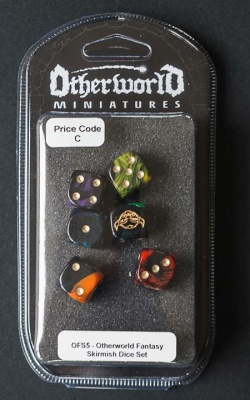 Otherworld Fantasy Skirmish - Set of 6 Dice