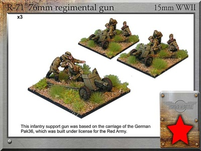 76mm m43 regt. Guns & Crew (3)