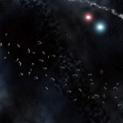 """Asteroid Field Space Mat (36"""" x 36"""")"""