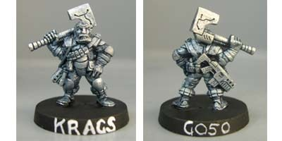 Kraggs, Light infantry sergeant with SMG