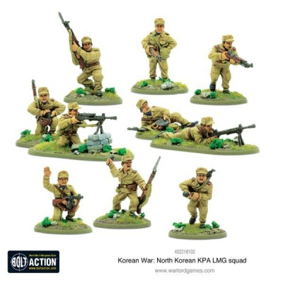 Korean War: North Korean KPA LMG squad (10)