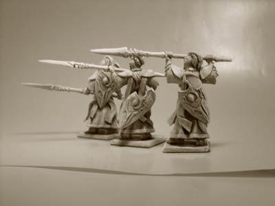 Elfen Veteranen Speerträger Mix III