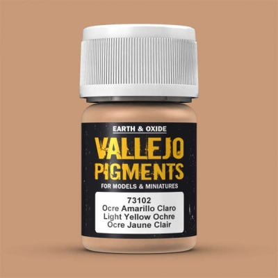 Vallejo Pigment Light Yellow Ocre 30ml