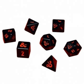 D&D Heavy Metal 7 RPG Set Dice for Dungeons & Dragons
