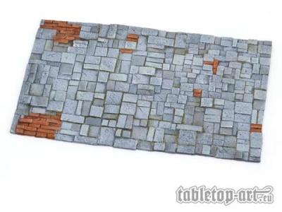Bodenplatte - Steinpflaster