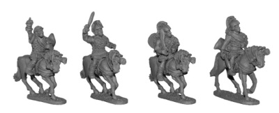 Mounted Spanish Nobles (4)