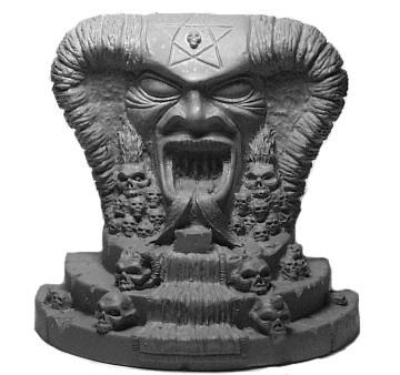 Thron mit Teufelsschädel