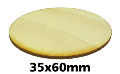 Oval Miniature Bases: 35x60 mm (1)