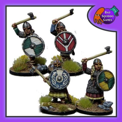 Shieldmaiden Hearthguard with Axes (4)