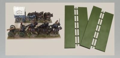 Limber/Wagon Bases 230 x 50mm & 210 x 50mm (4)