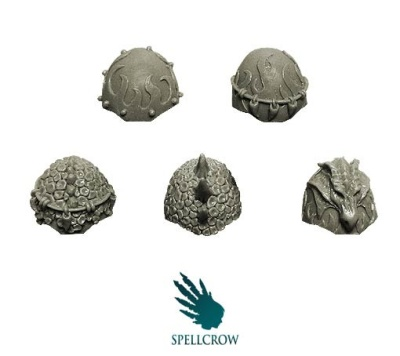 Salamanders / Dragons Knights Heavy Shoulder Pads (5)
