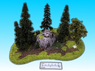 Geländestück Wald