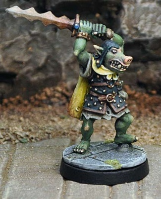Orc with Flamberge Sword
