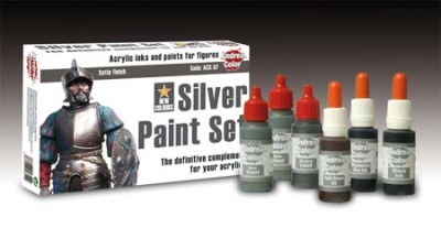 Silver Paint Set  (True Metal Colors)