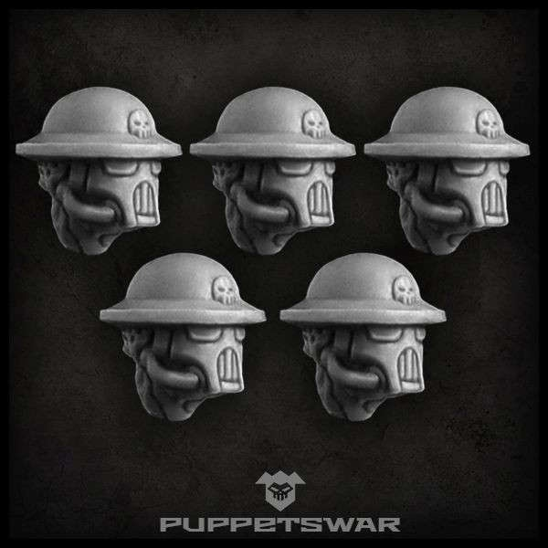 Masked Trench Troopers heads