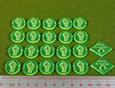 Dropzone, Underground Faction, Battle Group Tokens (22)