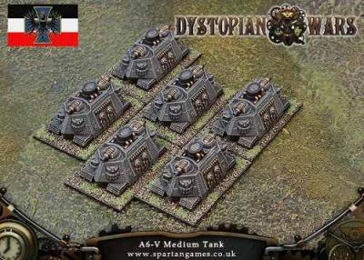 Prussian Empire A6-V Class Medium Tank (6) (OOP)