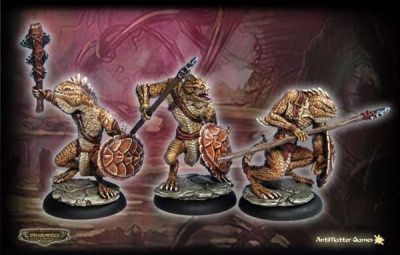 Ridgeback Lizardman Warriors B (set of 3)