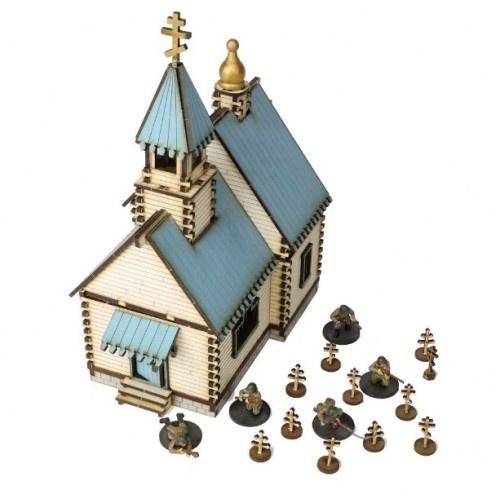 Russian Village - Orthodox Church (White)