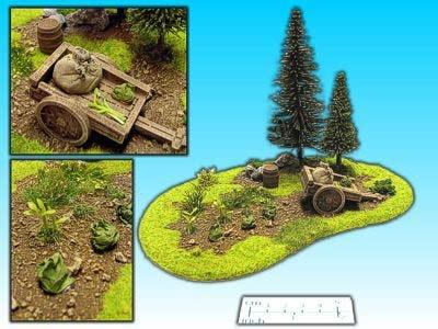 Geländestück Garten mit Karren