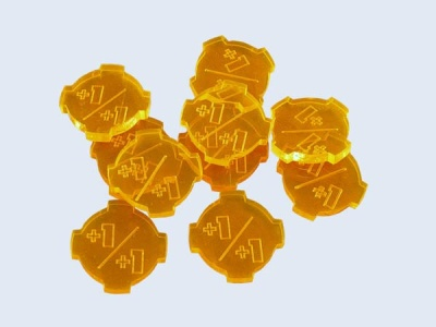 "Tokens ""+1/+1"" Orange (10) (OOP)"