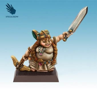 Female Dwarf with a sword and crossbow