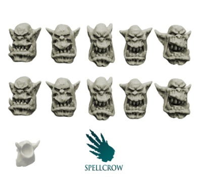 Yelling Orcs Heads (10)