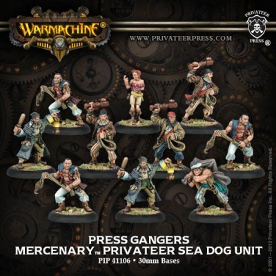 Mercenary Privateer Press Gangers Unit Box (10)