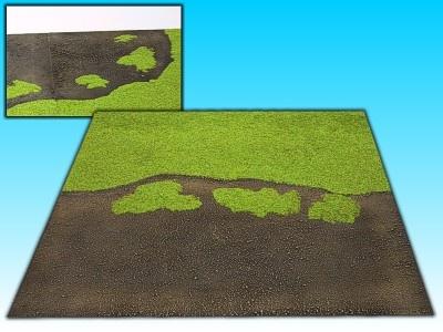 Übergangsplatte Stadt/Gras Gerade, 50 x  50 cm
