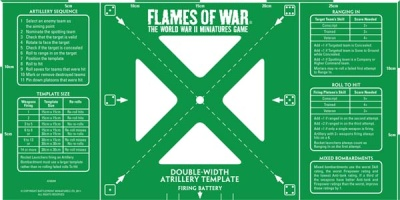 Green Double-Width Artillery Template: Metric