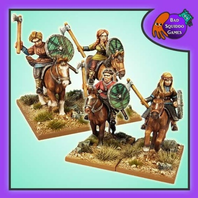 Mounted Shieldmaiden Warriors (4)