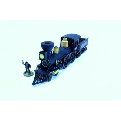 19th C. American Steam Locomotive (Black)
