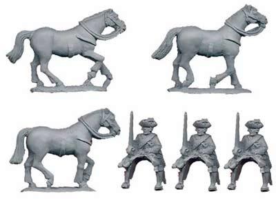 Austrian Dragoons (3 cavalry figures)