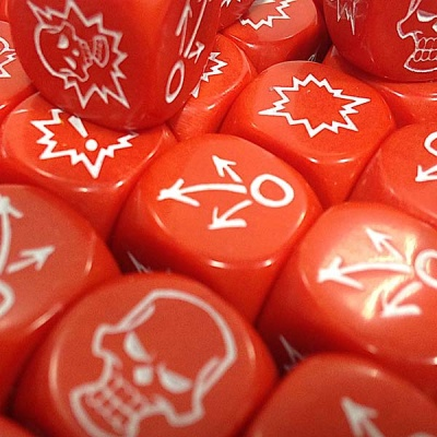 Block Dice Set OPAQUE RED (3)