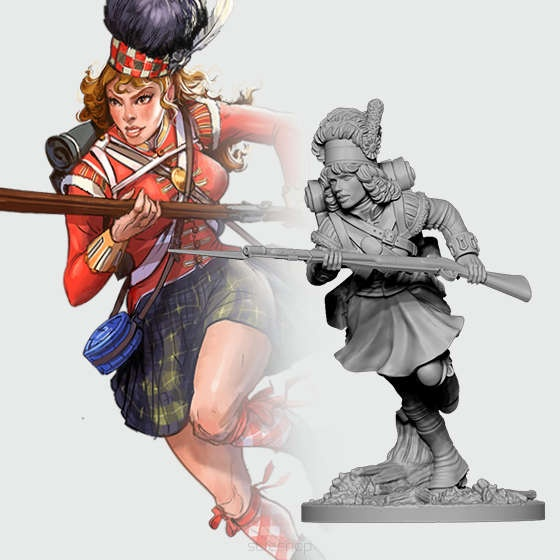 Fiona from 42nd Highlanders (28mm)