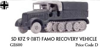 Sdkfz 9 18t Famo Recovey Vehicle