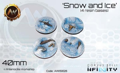 Snow & Ice Bases 40mm (4)