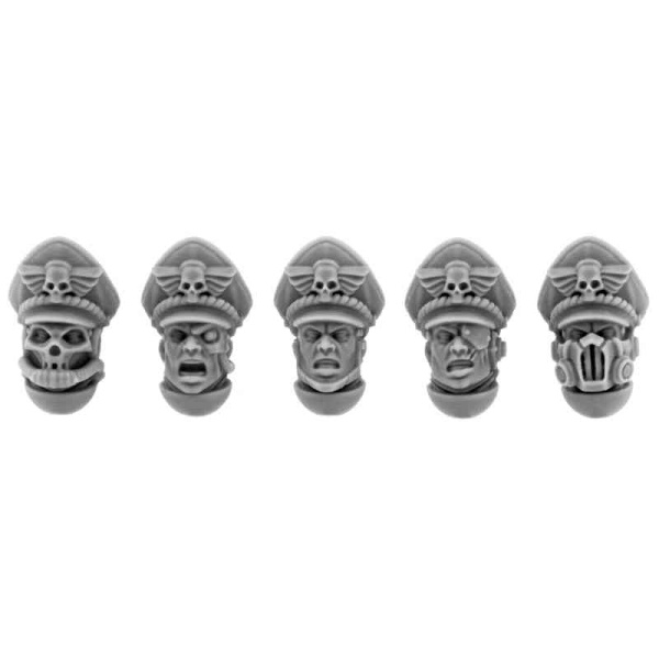 Imperial Commissar Heads Set (5)