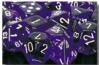 Chessex Dice Sets: Purple/White Translucent 16mm d6 (12)