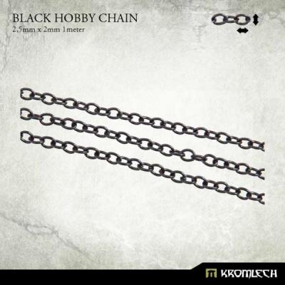 Black Hobby Chain 2,5mm x 2mm (1 meter)