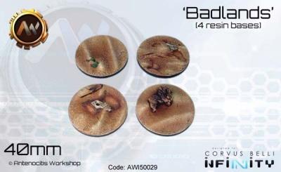 Badlands Bases 40mm (4)