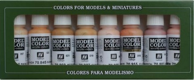 Model Color Set 24: Face/Skin Colours (8)