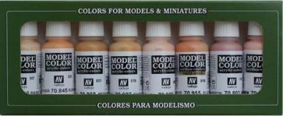 Model Color Set 24: Face/Skin Colours (8)