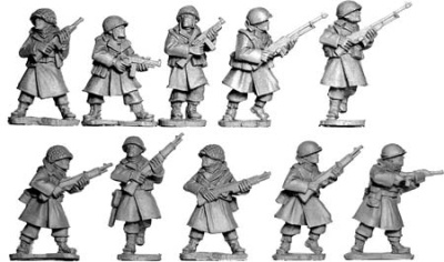 US Infantry In Greatcoats Section I