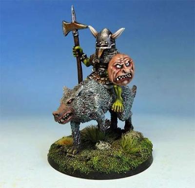 Bulbus Peppernose, legendary goblin hero on wolf