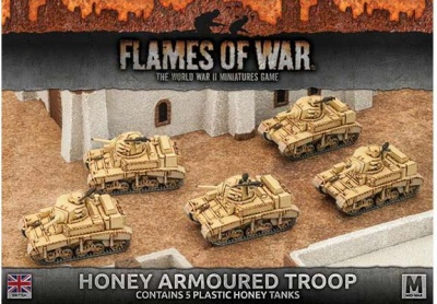 Desert Rats Honey Armoured Troop (Plastic x 5)