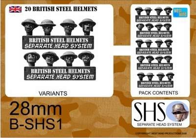 BRITISH IN STEEL HELMETS