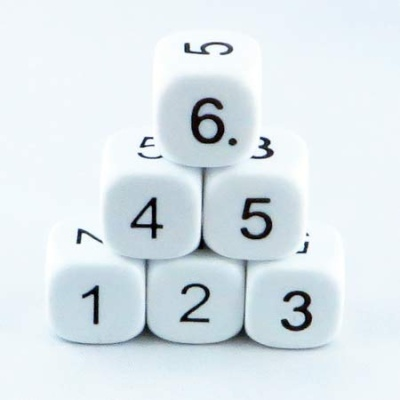 16mm Educational Dice 1-6