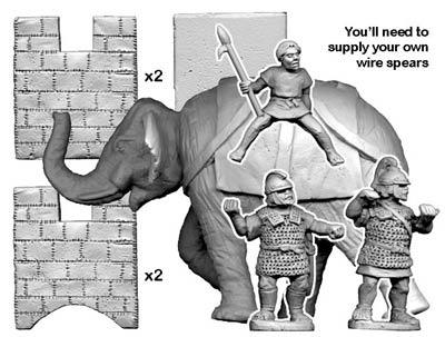 Elephant & 3 crew