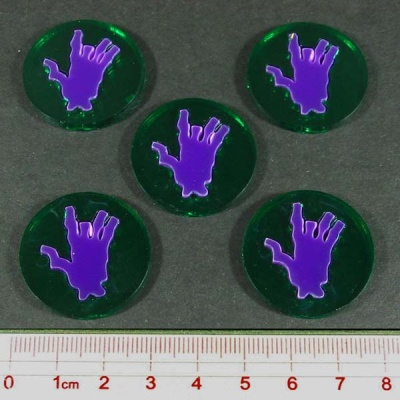 Steampunk Horror Body Part Tokens (5)